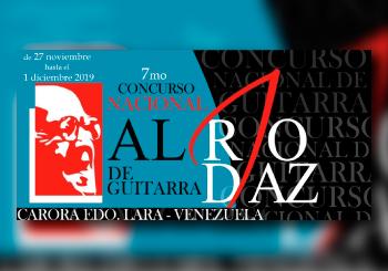 Hoy comienza el 7mo Concurso Nacional de Guitarra Alirio Díaz 2019